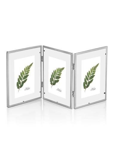 The Mia Brass Çerçeve Silver 42 x 18 Cm Gümüş